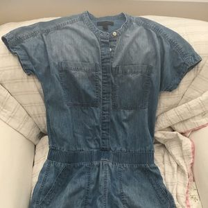 J.crew denim romper worn once